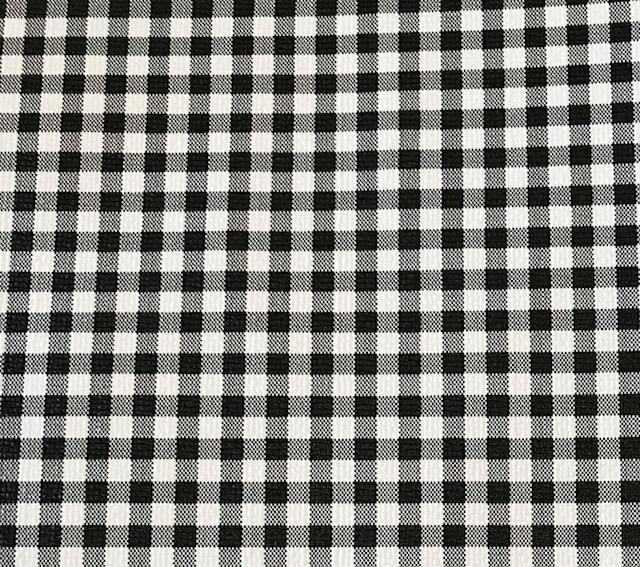 Buffalo Plaid Small Black White Embroidery Vinyl