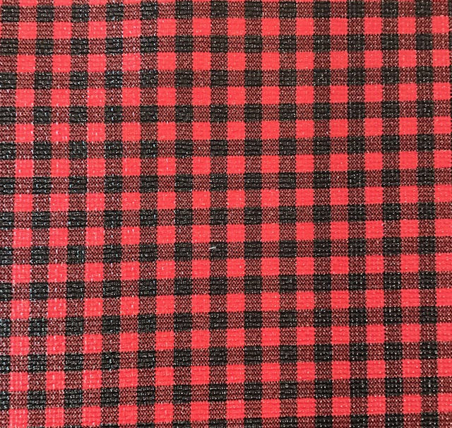 Buffalo Plaid Small Black Red Embroidery Vinyl