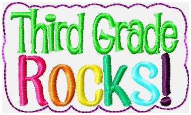Third Grade Rocks Glam Band Embroidery File
