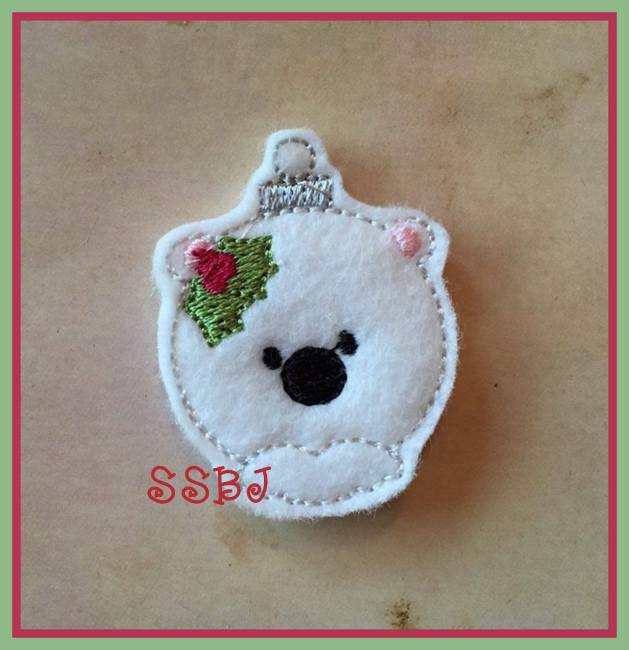 SSBJ PolarBear Ornament Embroidery File