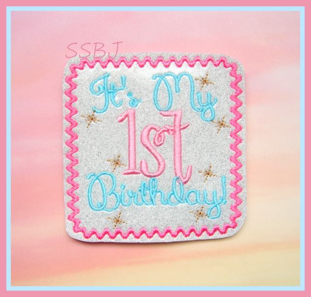 My 1st Birthday Cover Embroidery File