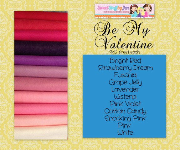 Be My Valentine Wool Felt Pack