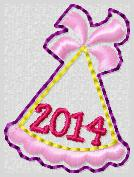 2014 Party Hat Embroidery File