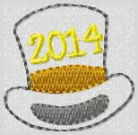 2014 Top Hat Embroidery File