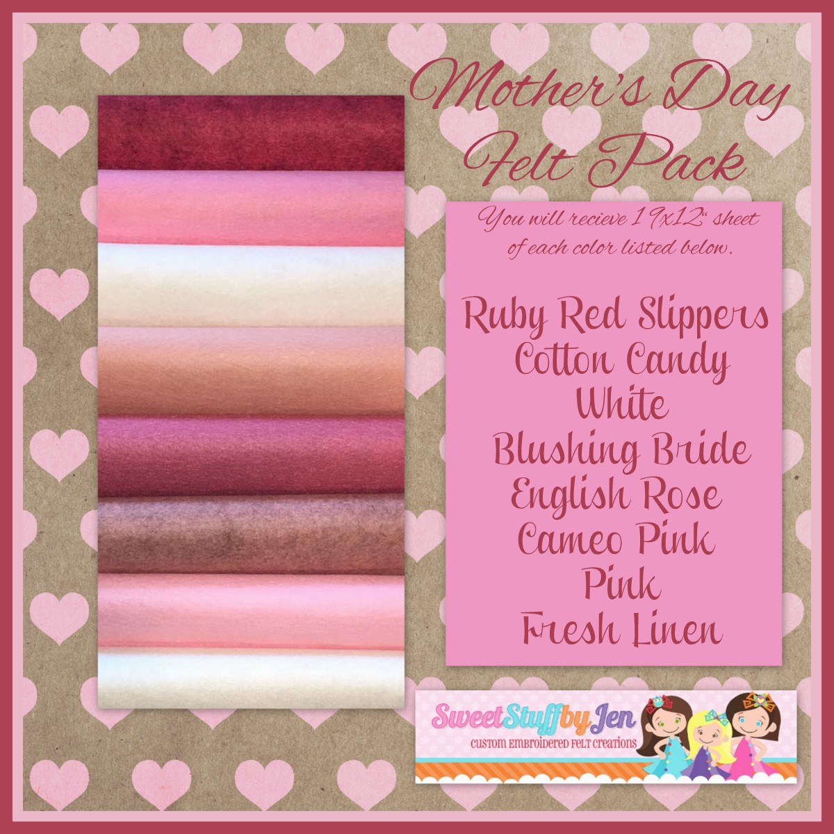 Mother's Day Felt Variety pack