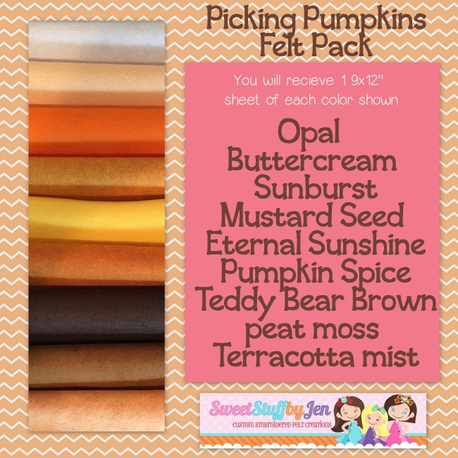 Picking Pumpkins Felt Variety Pack