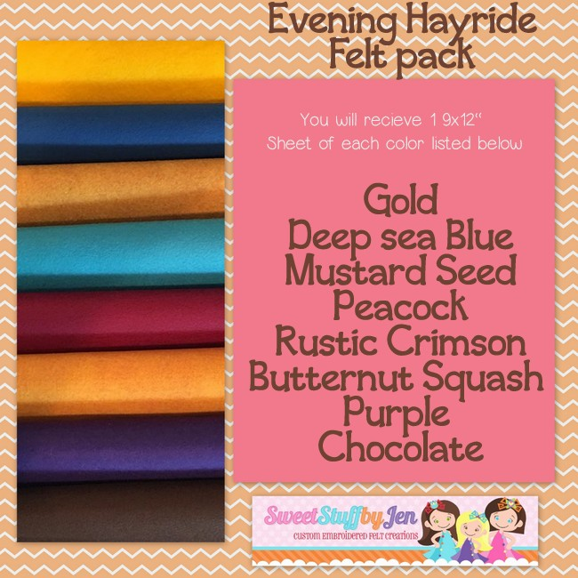 Evening Hayride Felt Pack
