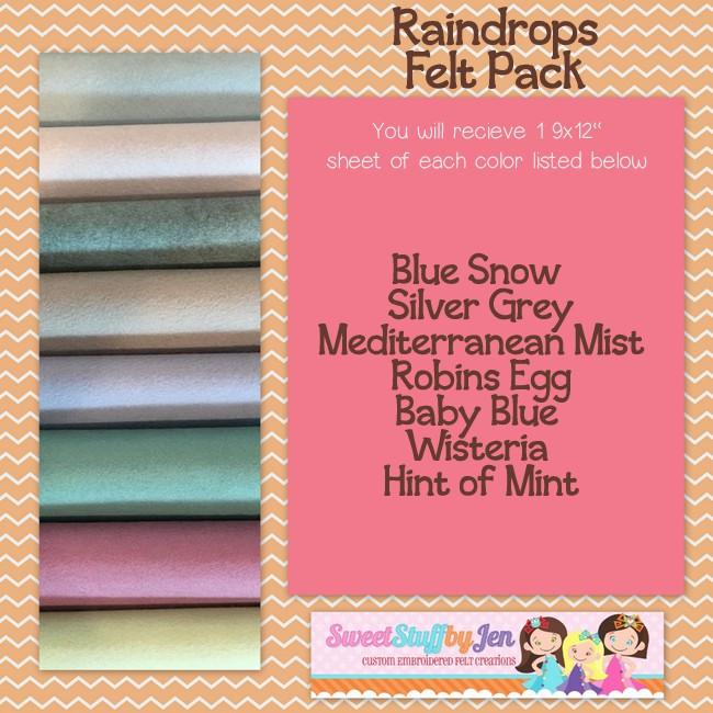 Raindrops Felt Variety Pack