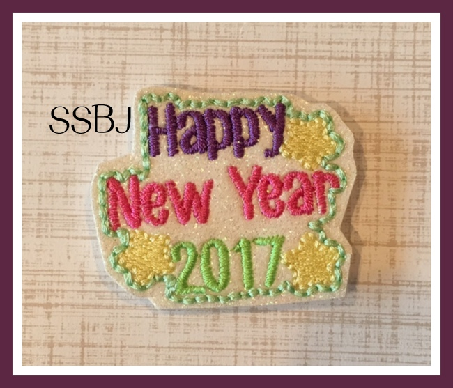 SSBJ New Year 2017 Stars Embroidery File