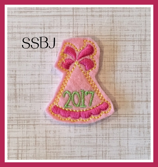 SSBJ New Years Eve 2017 Party Hat Embroidery File