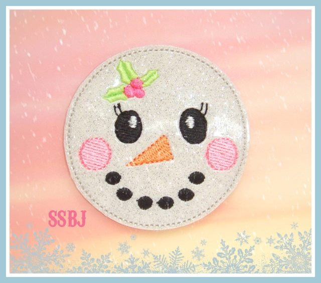 Holly Snowgal Embroidery File