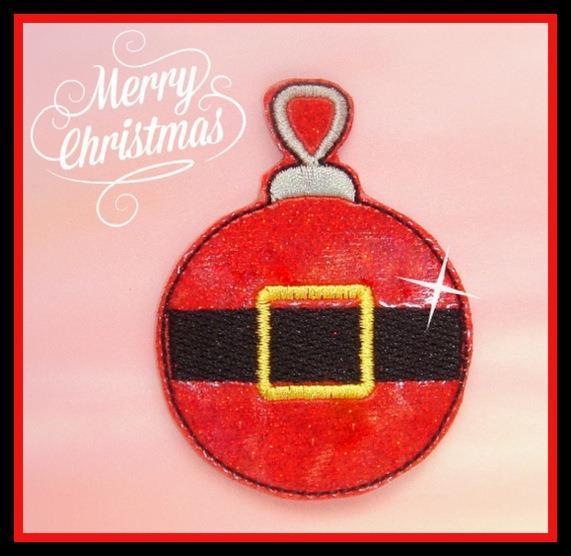 Santa's Ornament Embroidery File