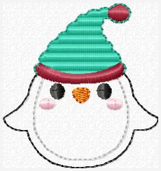 Winter Penguin Embroidery File