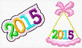 2015 Party Hat Embroidery File