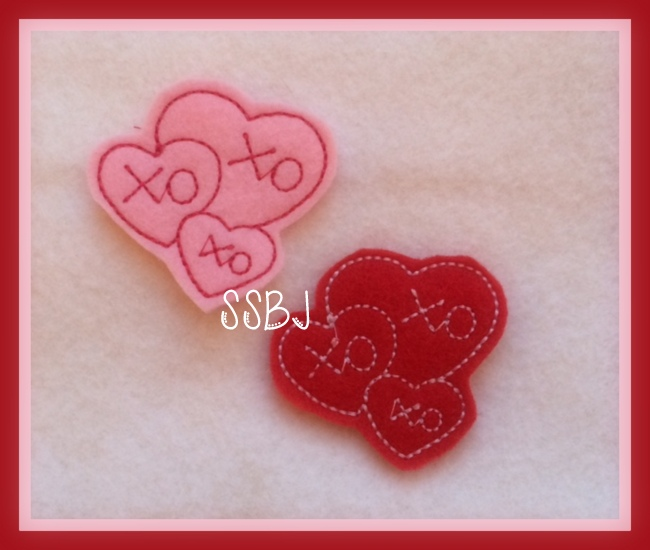3 Kisses Embroidery File