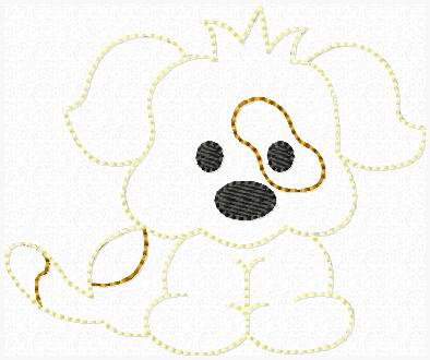 Dug the Dog Feltie Keeper Embroidery File