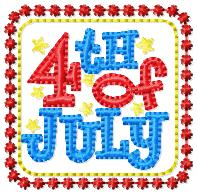 4th of July Embroidery File