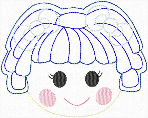 LaLa Mitten Embroidery File SET