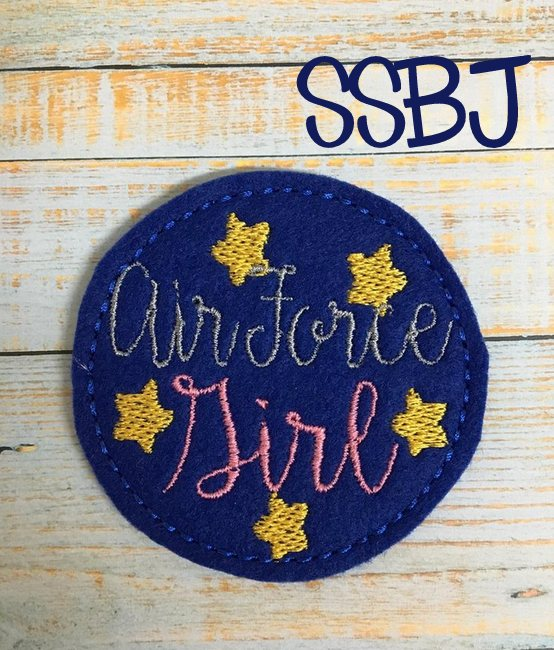 SSBJ Air Force Girl Embroidery File