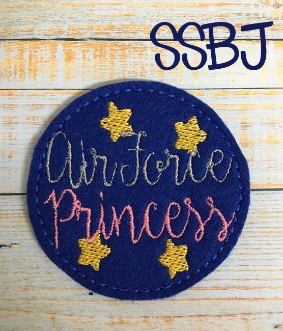 SSBJ Air Force Princess Embroidery File