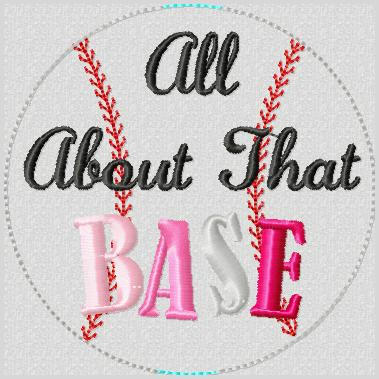 All About That BASE-Ball Glam Band (Slider) Embroidery File