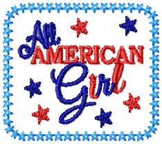 LBS All American Girl Cover Embroidery File