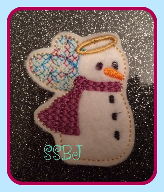 Winter Angel Snowman Embroidery file