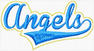 Angels Glam Band Embroidery File