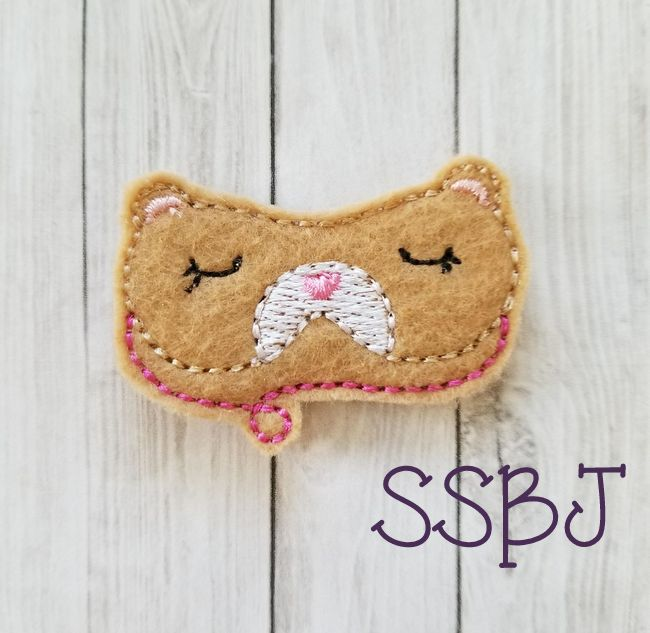 SSBJ Animal Mask Bear Embroidery File