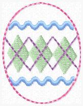 Argyle Egg Embroidery File