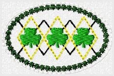 Argyle Shamrocks Embroidery File