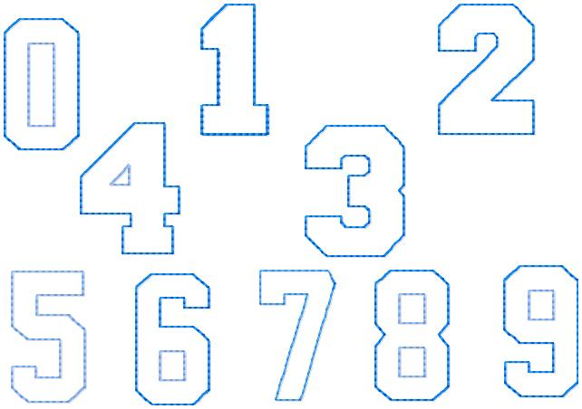 SSBJ Birthday Block Numbers 0-9 Embroidery Files