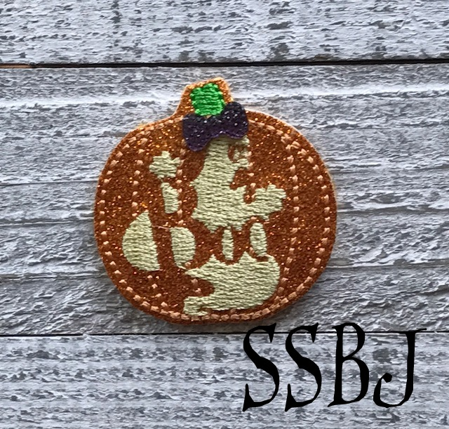 SSBJ BOO Glowing Pumpkin Embroidery File