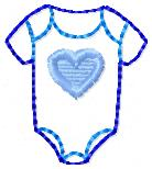 Baby Onesie Embroidery File