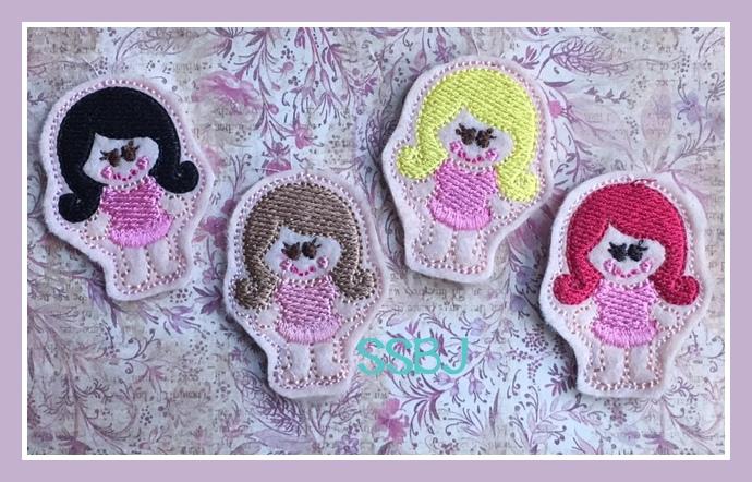SSBJ Fringe Ballerina Girl Embroidery File