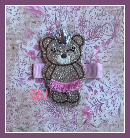 SSBJ Ballerina Bear Embroidery File