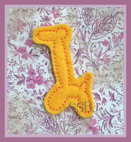 SSBJ Balloon Animal GIRAFFE Embroidery File