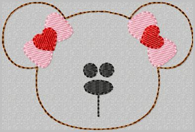 Barbie Bear Embroidery File-SET