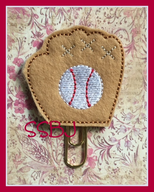 SSBJ Baseball Mitt Embroidery File