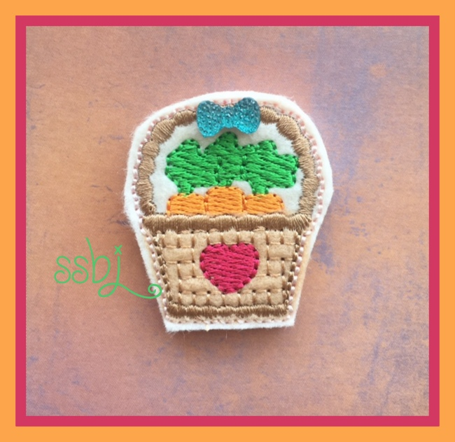 SSBJ Basket of Carrots Embroidery File