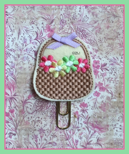 SSBJ Basket O Flowers Embroidery File