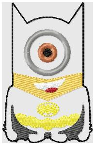 Bat Minion Body Embroidery File