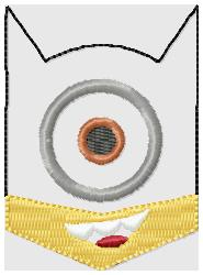 Bat Minion Face Embroidery File