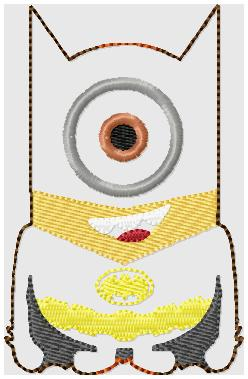 Bat Minion Glam Band (Slider) Embroidery File