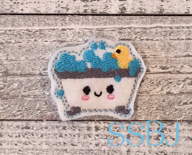 SSBJ Kutie Baby Bathtub Embroidery File