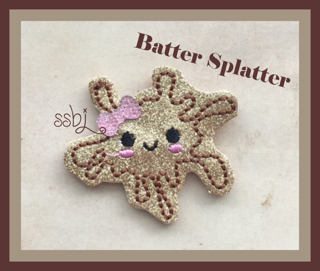 SSBJ Batter Splatter Embroidery File