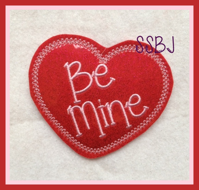 Be Mine Valentine Embroidery File