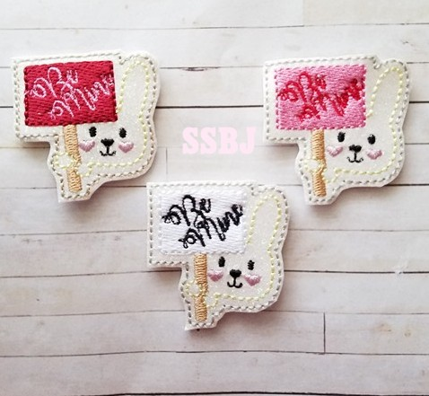 SSBJ Be Mine Bunny Embroidery File