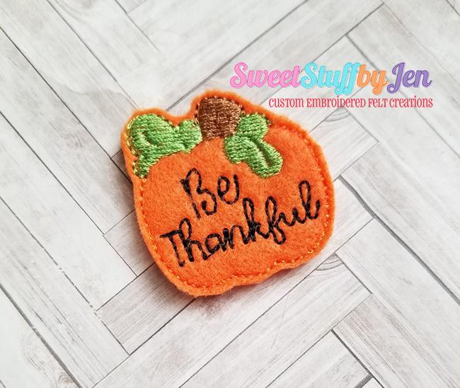 SSBJ Thanks Pumpkin Embroidery File