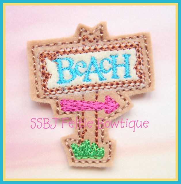 Beach Sign Embroidery File